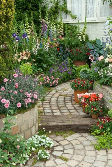 Flower filled walkway